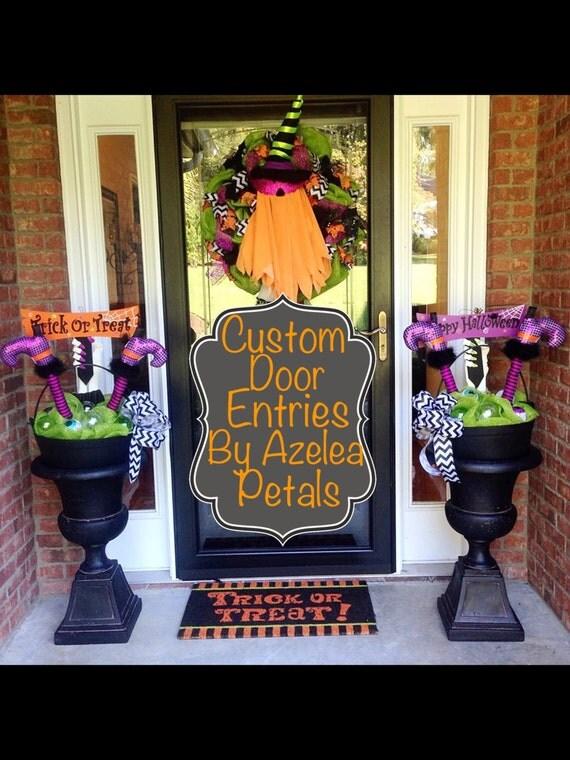 Decorating Ideas > Custom Halloween Door Entrance Decor Spooky Front Door ~ 062849_Halloween Door Entrance