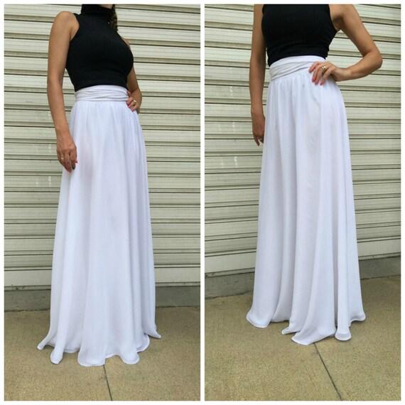 white chiffon maxi skirt chiffon skirt