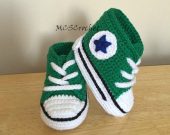 Baby Converse handmade baby shoes all stars baby booties | Etsy