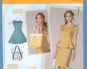 2013 Misses' Petite Dress or Top, Skirt and Bag Size U5 16-24 - Simplicity lisette Sewing Pattern 1666