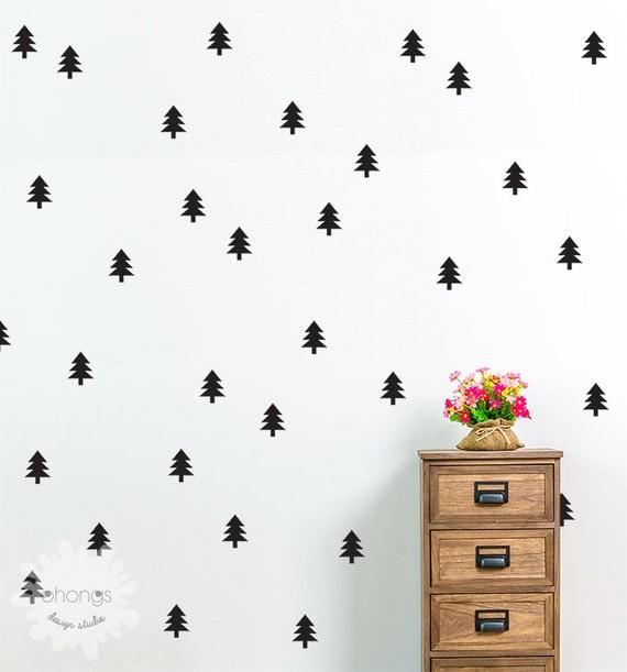 Pine Tree Wall Decal Christmas Tree Sticker Holiday - Custom vinyl wall decals christmas