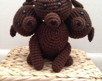 Crochet Cerberus/Harry Potter Fluffy
