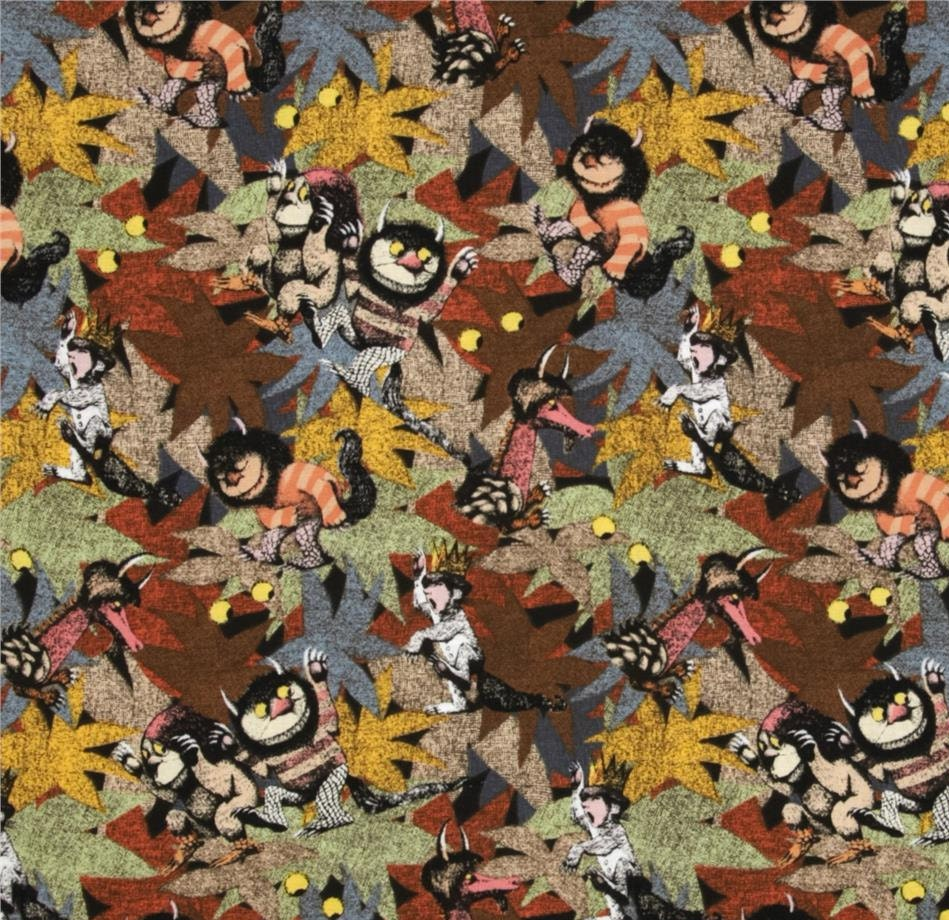 Where The Wild Things Jungle Fabric By The Half Yard
