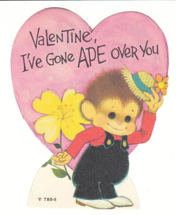 Valentines Day Vintage Monkey Cards – Talking Valentine Cards
