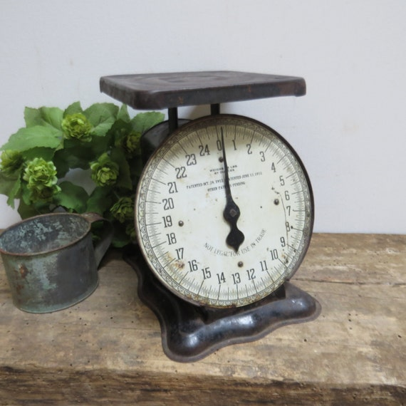 Vintage Kitchen Scales: Vintage Kitchen Scale American Cutlery Co Chicago Black