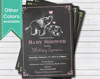 elephant baby shower invitation boy | etsy, Baby shower invitations