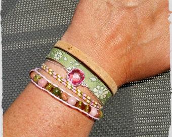 "Multi-stranded bracelet ""I came for her"" v2"