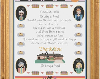 Golden Girls Sampler - Cross Stitch Pattern - Downloadable PDF