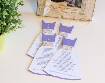 Bridesmaid Card in Will you Be my Bridesmaid Invitations Matron of Honor, Maid of Honor Flower girl (BR11)