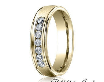 Yellow Gold Wedding Band Diamond Ring
