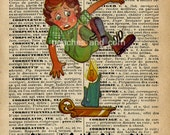 "Dictionary Art, An Alternative, ""Jack had BETTER Be Nimble ""  #114"
