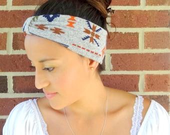 Aztec headband for women/Stylish gift for women/Headwrap aztec style