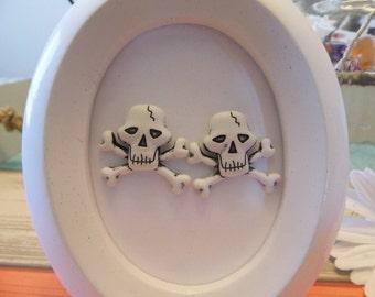 Skull & Crossbones Stud Earrings