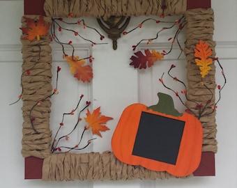 Fall Wreath, Fall Decoration, Fall Leaves