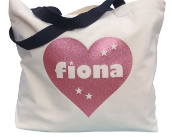 Personalized Canvas Bag, Personalized Tote, Personalised Canvas Tote, Natural Canvas Shopper. Market Bag, Birthday Gift, Custom Tote Bag,