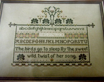 PATTERN: Told In A Garden Alphabet Sampler Vintage Counted Cross Stitch Chart Pattern (#182)
