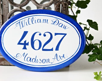Hanging House Number Plaque, House Number Sign, Address Sign, House numbers, Outdoor number sign