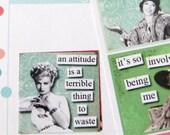 Sassy Hotsy Totsy Planner Stickers for Erin Condren Planner, Filofax, Plum Paper, etc