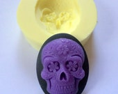 40X30MM Gothic Purple Day of the Dead Sugar Skull Mold Mould Soap Mold Resin Mold Polymer Clay Mold Fondant Mold Candy Gumpaste Molds