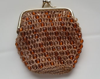 Vintage Beaded Coin Purse made in Hong Kong