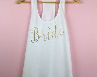 Wedding Tank Top. Bride Tank Top. Bride Shirt. Bride Tank. Wedding Shirt. Bride Gift. Bridal Shower Gift. Bridal Party Shirts. Bride Gift.