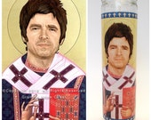 """Noel Gallagher Prayer Candle. Saint Gallagher! Great Gift for Oasis Fans! Premium Handmade 9"""" Soy Candle!"""