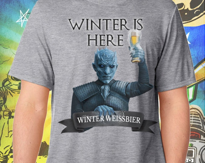 Winter is Here Game of Thrones White Walker Night's King Gray Men's T-Shirt