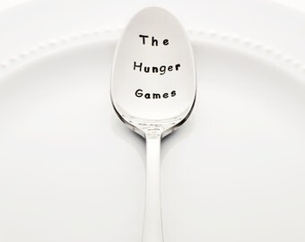 The Hunger Games - Stainless Steel Stamped Spoon (coffee spoon, tea spoon) | Gifts for Readers | Gifts for Teens | Unique Gifts for Her