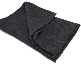 Black Linen Bath Towel Linen towel Bathroom towels Bathroom accessories