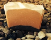 Patchouli Soap with Orange and Mint Essential Oils. Made with Beer and Silk!