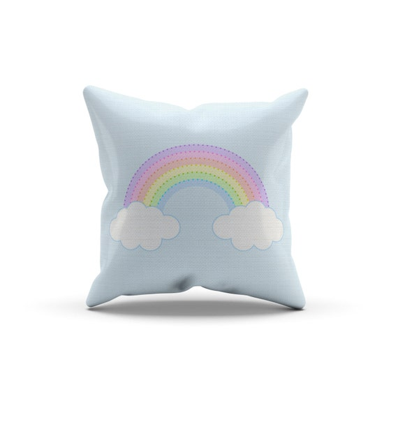 Throw Pillow For Nursery : Rainbow Pillow, Nursery Pillow,Throw Pillow, Kids Throw Pillow, Children s Rainbow Pillow by ...