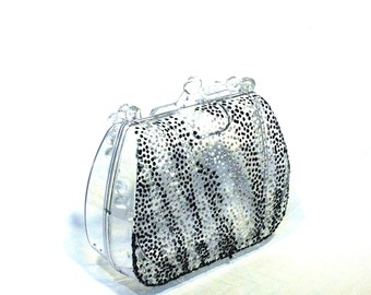 Zebra Hand Painted Purse / Favor / Gift Box