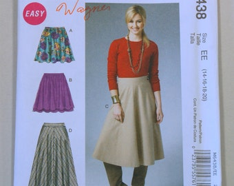Out-of-Print McCall 6438 Sewing Pattern / Misses' Skirt Pattern / Sizes 14-20