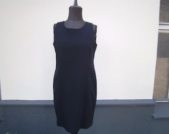 dress, sheath dress, wool dress, black vintage, himmeldurchnadeloehr, Gr. 38 dress,