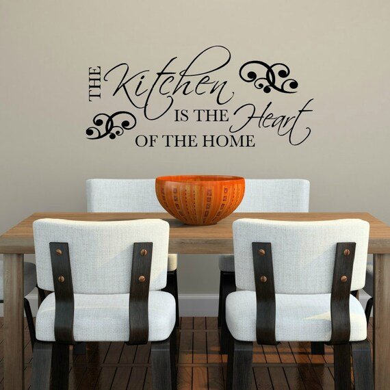 The Kitchen Is The Heart Of The Home Wall Decal Kitchen