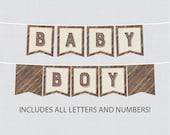 Printable Rustic Baby Sho...
