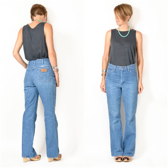 Vintage 1970s WRANGLER Flare Jeans / small medium 29x32 / High