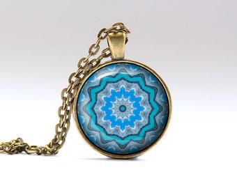 Mandala necklace Indie pendant Boho jewelry OWA212