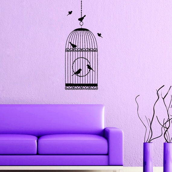 wall decals bird cage birdcage decal vinyl sticker by
