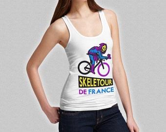 Skeletour De France Ladies Tank Top - Funny Skeletor He-Man Cycling Tank