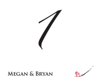 Wedding Table Numbers - Table Numbers - Cherry Blossom Table Numbers - Asian Inspired - Wedding Decor - Party Supplies - Table Decoration