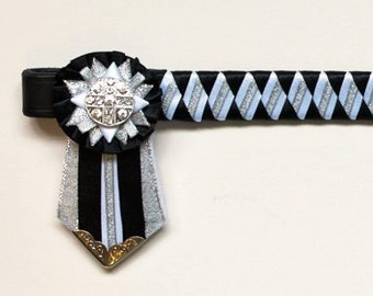 Black, white and silver showing browband