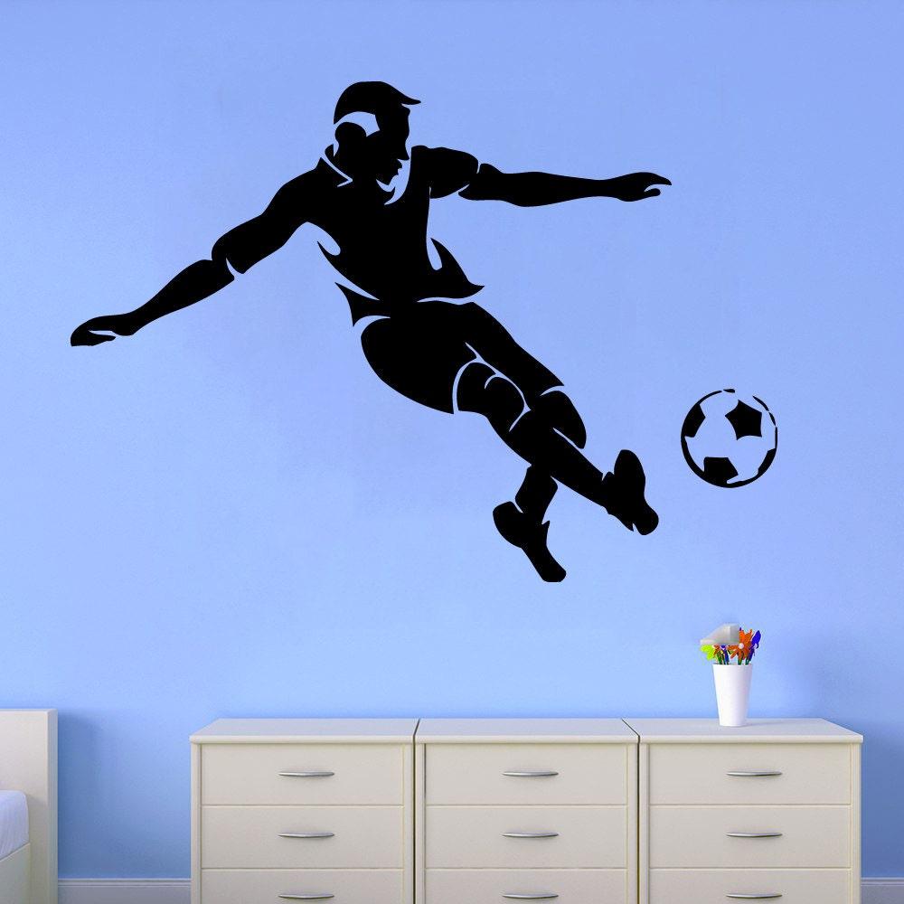 Soccer Wall Decals Man Football Player Decal Sport Vinyl
