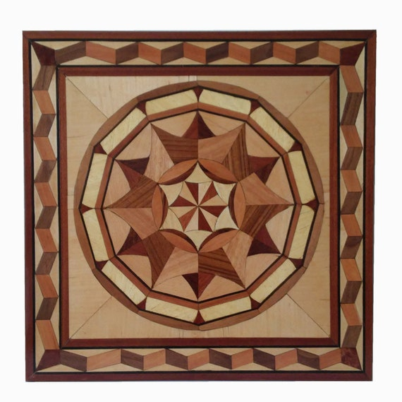 Inlaid Wood abstract Picture -  Marquetry