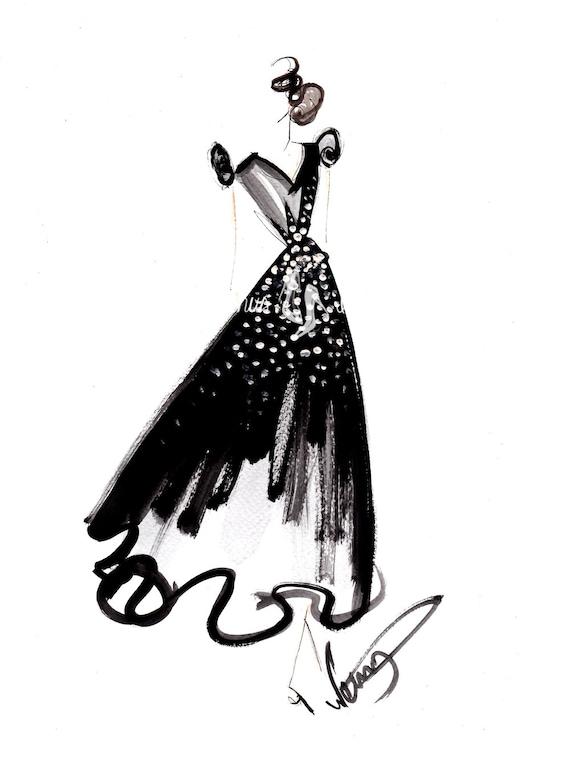 black and white fashion sketches dresses wwwimgkidcom