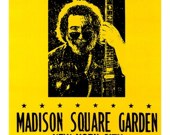 The Grateful Dead Concert Poster, Madison Square Garden, New York City