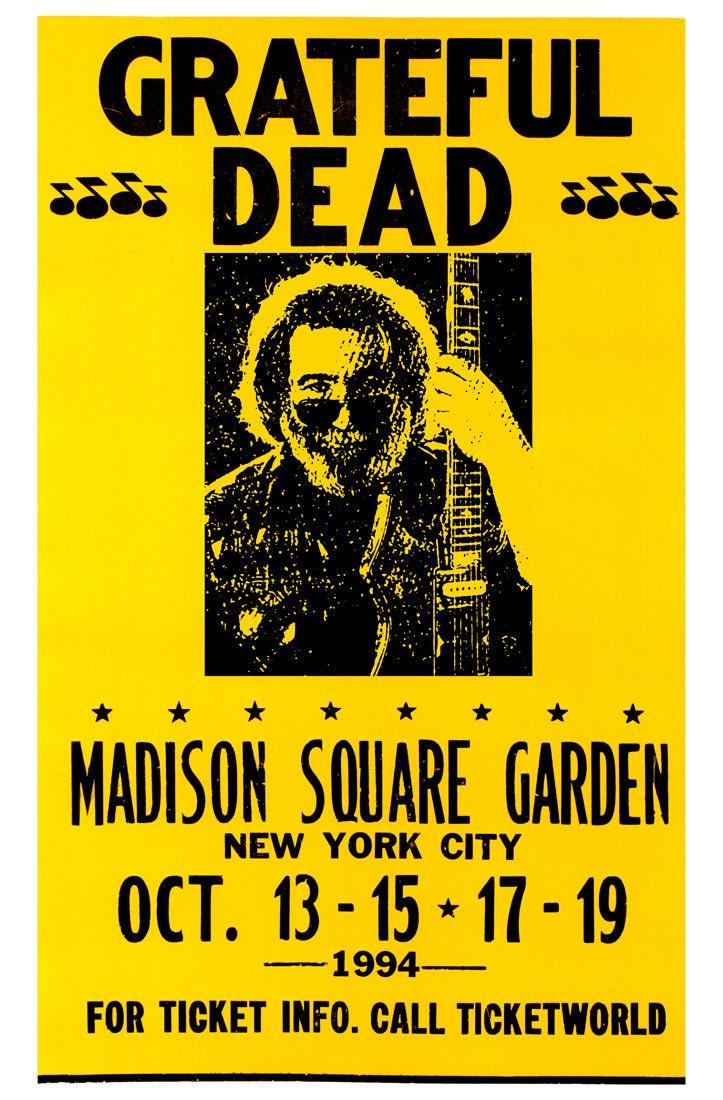 The Grateful Dead Concert Poster Madison Square Garden New