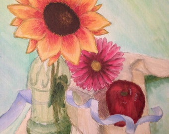 Still Life Acrylic Painting 11x14 inches