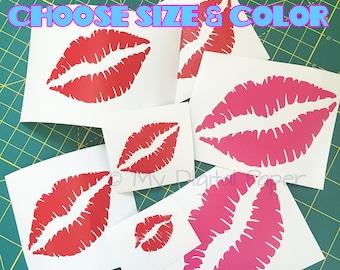 Lips Decal - Lipstick Decal - Love Lips - Kissy Lips - Kiss Vinyl - Lips Sticker - LIPS - Kiss Decal - Car Decal - Kissing Lips Sticker