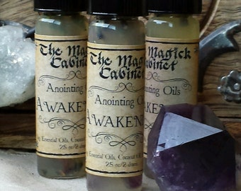 Awakening Oil, Witchcraft, Wicca, Witch, Pagan, Metaphysical Perfume Oil, Fragrance Oil, Perfume, Apothecary, Essential Oil Blends